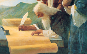Prophet writing on scroll