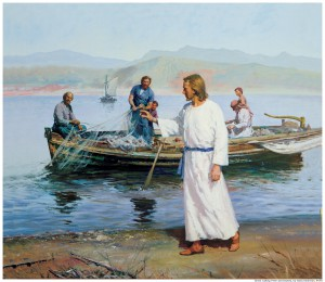 Jesus calls the fishermen to follow him.