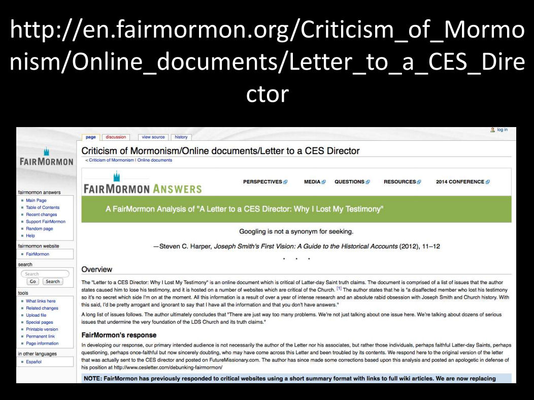 mormon ces letter letter to ces director best of letter to ces director 44545