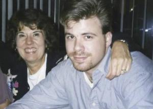 Darla Isackson and son Brian (right)