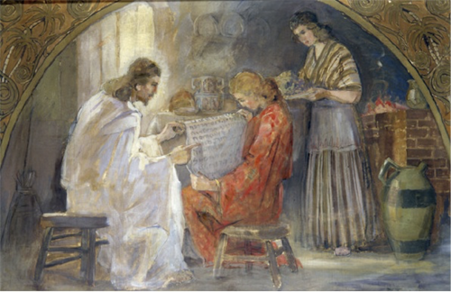 Christ With Mary and Martha, by Minerva Teichert