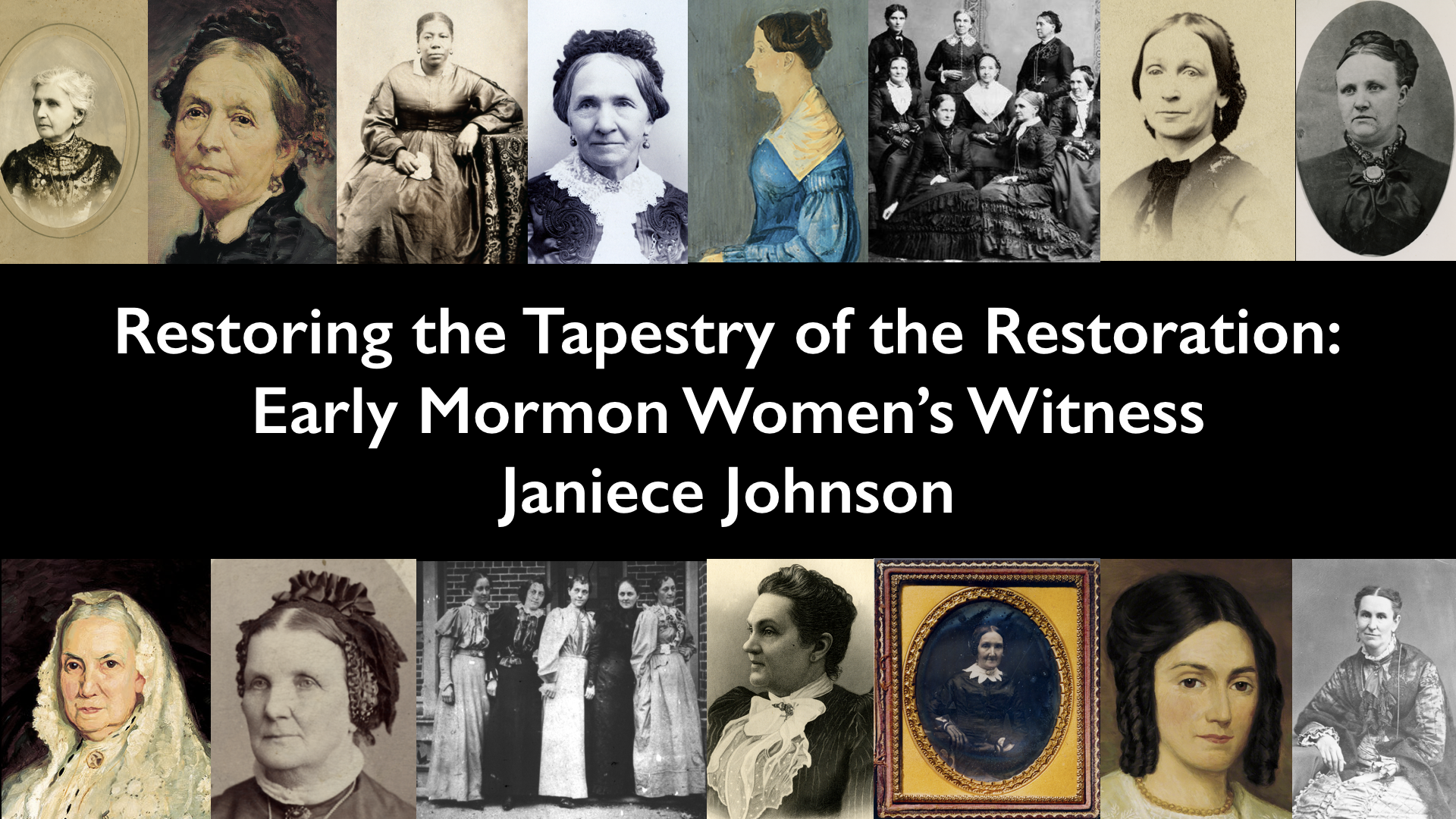 73240c1f8 Restoring the Tapestry of the Restoration  Early Mormon Women s ...