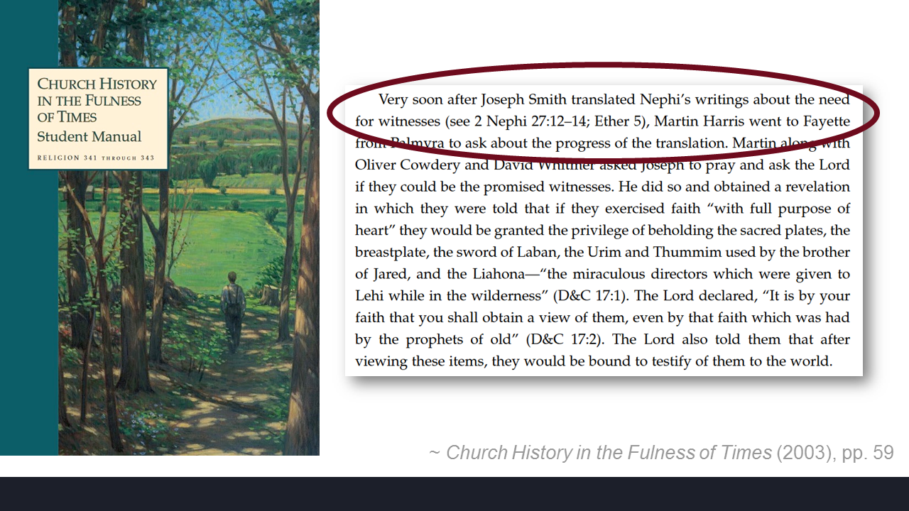 Back in the Institute manual you see that it makes reference to Nephi,  Nephi's writing. But I want to look at another one. It's cited both times,  ...