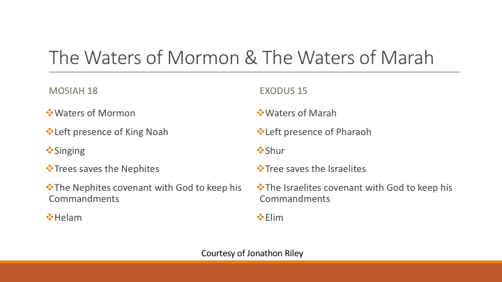 Even As Moses Did The Use Of The Exodus Narrative In Mosiah 11 18